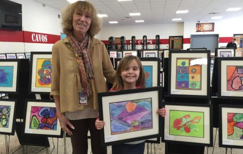 Elementary art teacher Wanda Lev has worked in the Emerson Public School District for 21 years. She's loved art since she was a kid herself. The annual art show makes her feel proud.