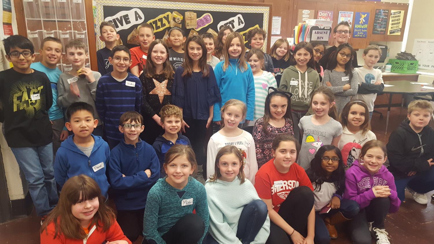Third and fourth graders at Patrick M. Villano School in Emerson, NJ, met for the second time on Tuesday, March 13, 2018, as part of The Villano View newspaper club. Members write and take photos and video for the online newspaper which started this year.