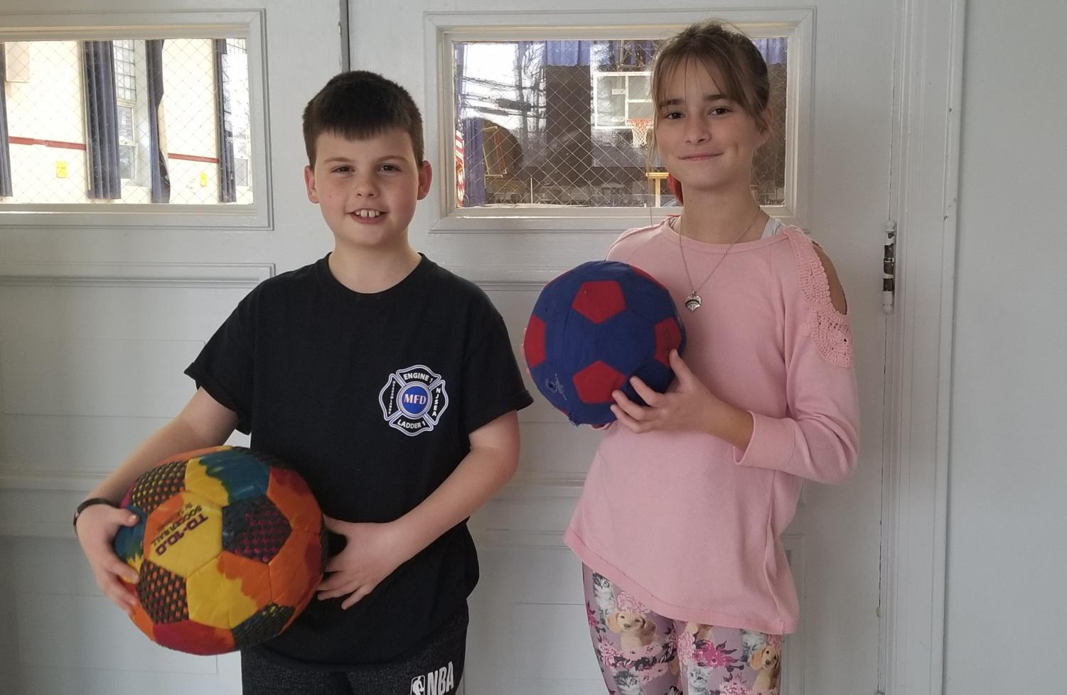 Sixth graders Hugh Hennessey and Mia Worthington both pay for the Emerson Eagles, the town's club team. Both athletes agree that practicing in the off season is key.