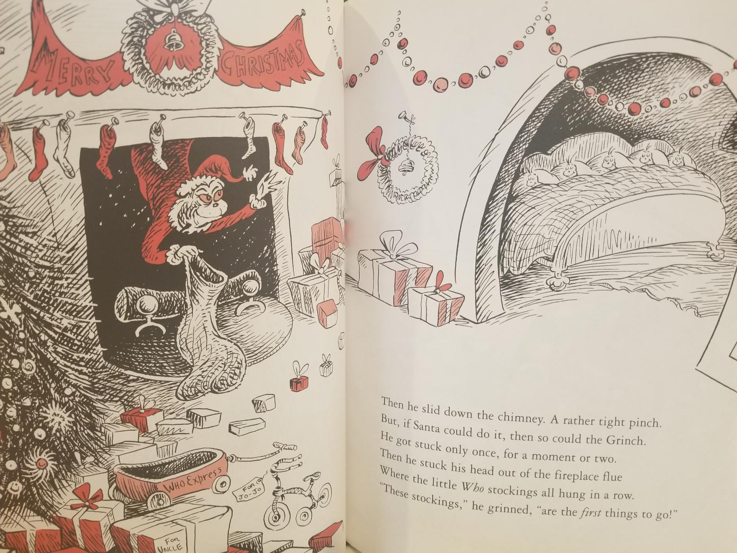 How the Grinch Stole Christmas by Dr. Seuss has been a holiday favorite since it was published in 1957. The Grinch, who first hated Christmas, learns to love the holiday through the spirit of the people living in Who-ville.
