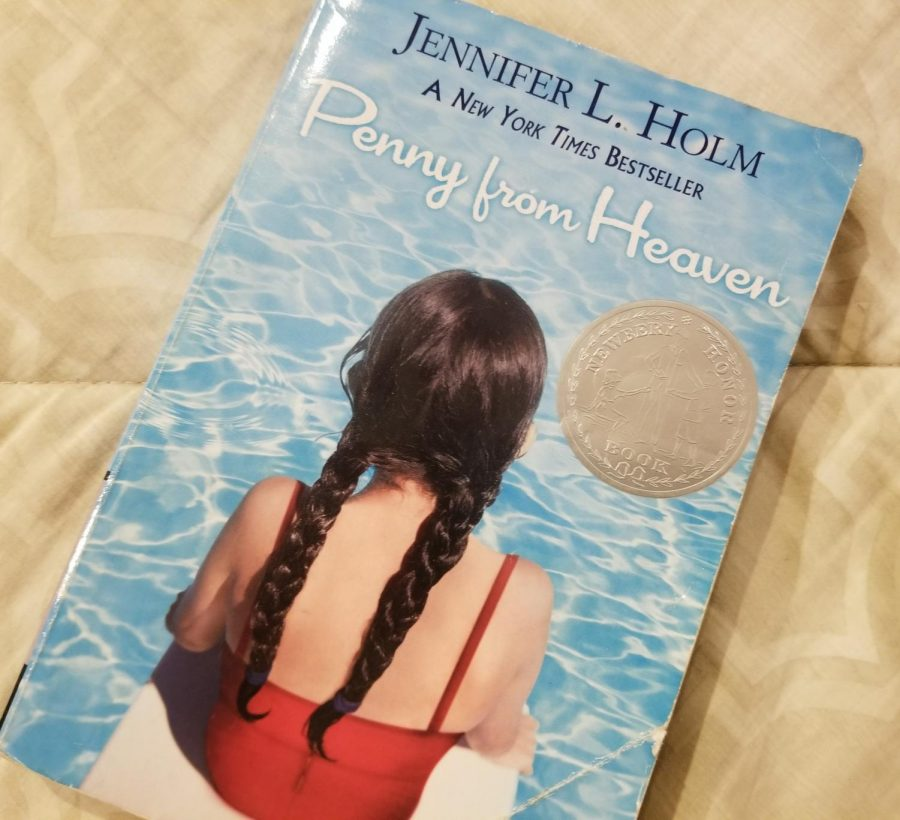 Penny from Heaven is a realistic fiction novel. It is one of four such novels offered during book discussions in sixth grade.