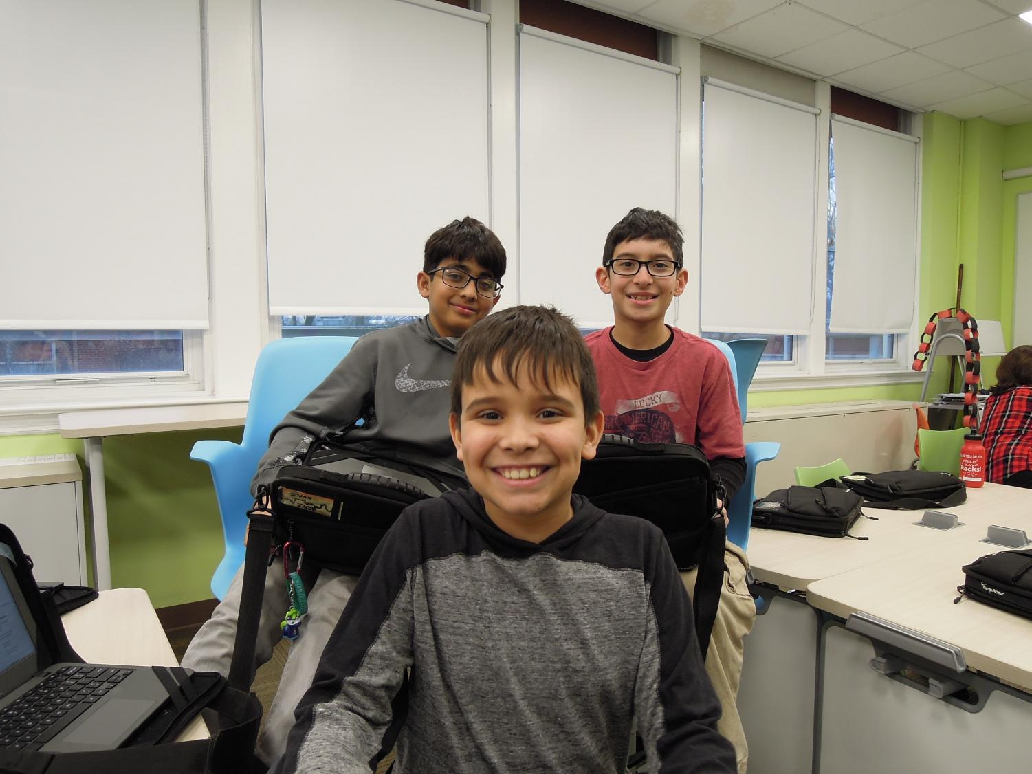These fourth graders love to create graphics and videos for The Villano View.