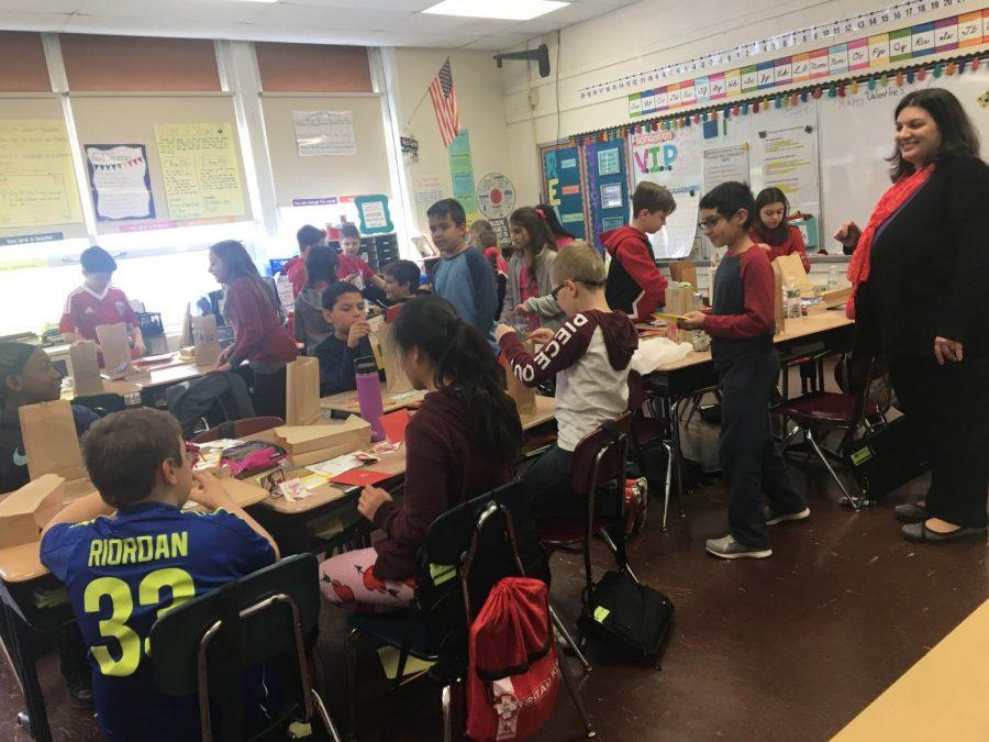Sprinkles and ice cream to celebrate Valentine's Day in fourth grade