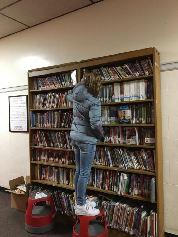Free library getting a workout