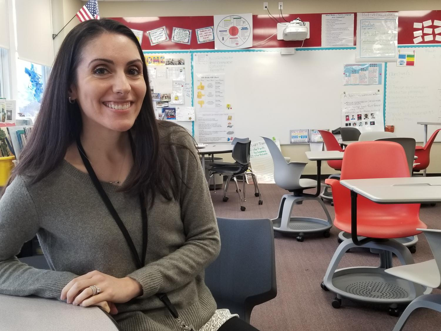 Kate Cremonese is back after maternity leave. She is excited to meet all her new students.