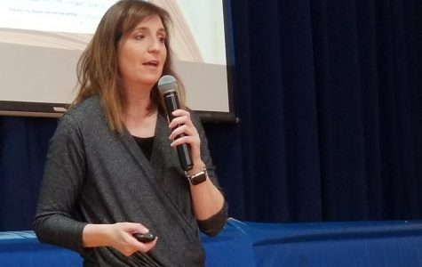 Childrens' author Wendy Mass has written two dozen novels. She spoke about character development with students at Patrick M. Villano School on Friday.