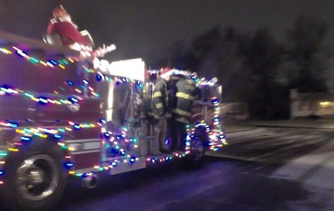 Firefighters decorated this truck especially for Santa.