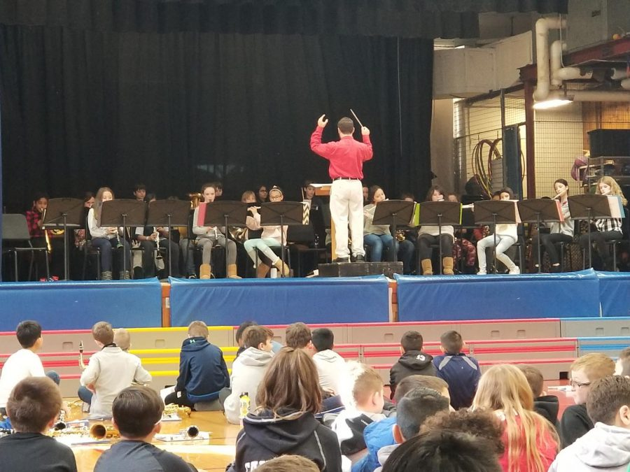Dozens of students participated in the annual Winter Concert at Patrick M. Villano School. A dress rehearsal took place on December 12 during the day in the all-purpose room.