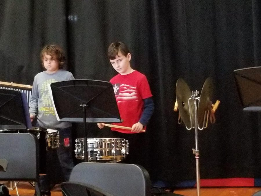 Many of the students in beginner band will move to Concert Band in the future.