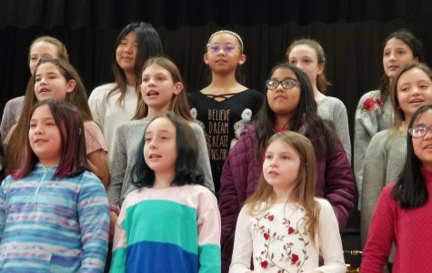 Students sing songs of the season