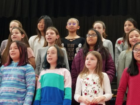 Band and chorus members filled Patrick M. Villano School with holiday spirit during their dress rehearsal for the annual Winter Concert.