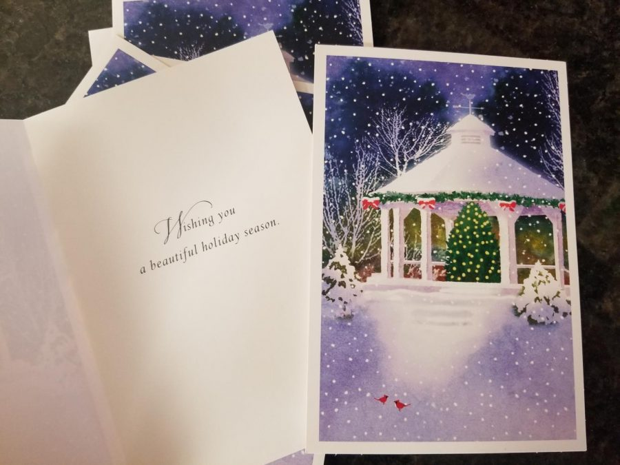 Many families send holiday cards as a way to spread cheer over the winter break.